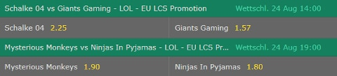 2018 EU LCS Spring Promotion Runde 2 bet365