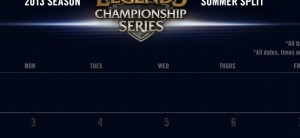 LCS Summer Split Zeitplan