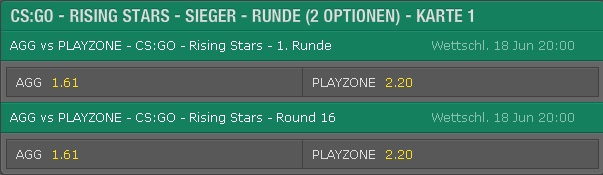 Rundensieg Quoten von Bet365