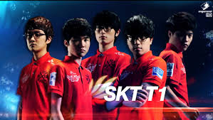 Gewinner der League of Legends Weltermeisterschaft 2013: SK Telecom T1 - alle 5 Teammitglieder