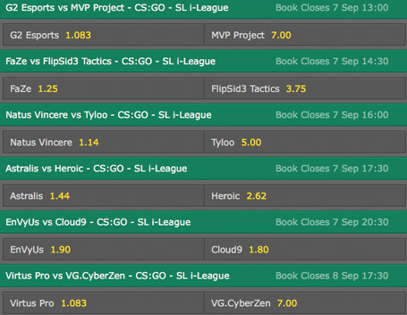SL i league schedule and betting odds bet365