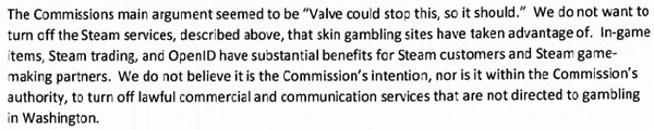 Washington State Gambling Commission Valve CSGO Skin Gambling Cease and Desist