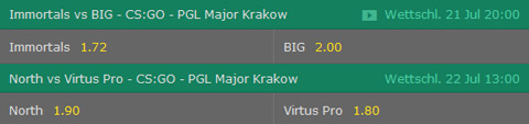 csgo pgl major krakow 2017 playoffs wette bet365