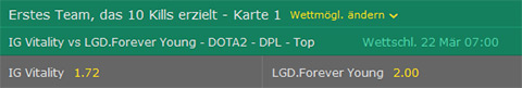 kills wettquoten bet365 dota2
